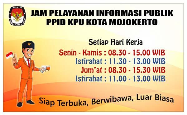 Jadwal Pelayanan PPID KPU Kota Mojokerto